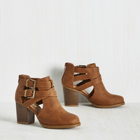 Adventure Essentials Bootie in Cinnamon | Mod Retro Vintage Boots | ModCloth.com