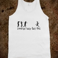 Zombies Hate Fast Food Female Running Shirt - Tank