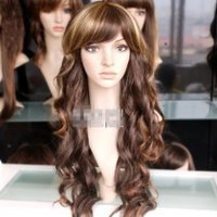 New Perruque Lady Sexy Long Wavy Blonde Party Hair Cosplay Wigs