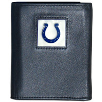 NFL Indianapolis Colts Trifold Wallet Genuine Fine Grain Leather Authentic New