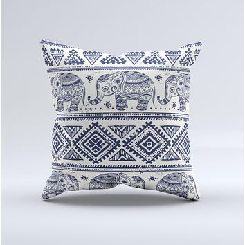 The Sacred Elephant Pattern ink-Fuzed Decorative Throw Pillow