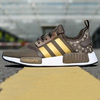 ADIDAS NMD X LOUIS VUITTON LV Sneakers Coffee Monogram Print Sports Men Shoes