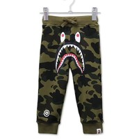 Bape Girls Boys Children Baby Toddler Kids Child Fashion Casual Pants Trousers