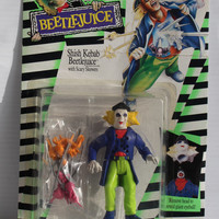 Beetlejuice Shish Kebab with Scary Skewers Movie Action Figure, 1989 vintage action figure, vintage toy, Vintage movie toy,toy for collector
