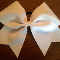 Practice Cheer  Bow  White by FullBidBows on Etsy