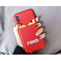 Fendi tide brand embroidery letters for men and women iphone xs max mobile phone #4