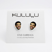 Drake Post Stud Earrings Celebrity Jewelry