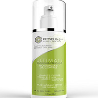 Retseliney Best Acne Treatment Moisturizer Cream & Oil Control + 2% Salicylic Acid & Vitamin C, for Teens, Adult & Hormonal Acne, Clear Blemishes & Acne Scars, Helps Prevent New Breakouts