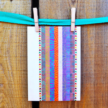Tribal Stripes Greeting Card | Thank You Card | Birthday Card | Notecard