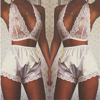 Sexy Cute On Sale Sexy Ladies Exotic White Lingerie