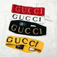 GUCCI Stylish Women Men Letter Print Crochet Knit Knitted Sport Gym Headwrap Headband Warmer Head Hair Band(5-Color) I