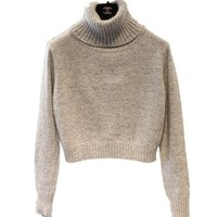 2018 Fashion Women Turtleneck Knitted Cashmere Sweater Female Short Pullovers Cashmere Long-Sleeved Warm Sweater Free Shipping