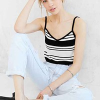 Silence + Noise Skinny-Strap High/Low Tank Top-