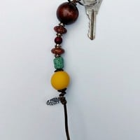 Key Chain - Yellow Hamsa