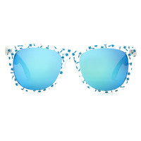 The Beach Party Sunglasses in Matte Translucent
