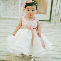 New Infant Baby Girl Wedding Dress Baptism Christening Gown Pageant Dress