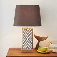 Chevron Deco Table Lamp - Small