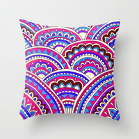 Mandala Mountains Throw Pillow by PeriwinklePeacoat