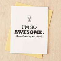 Awesome Mom Card- Black One