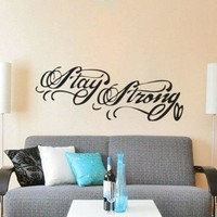 1 X Stay Strong Tattoo Demi Lovato Inspired Wall Decal Sticker