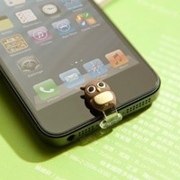 3D Home Button with Charge lightning Port dust Plug for iPhone5/iPad4/mini animal deer penguin duck owl ninja(owl):Amazon:Cell Phones & Accessories