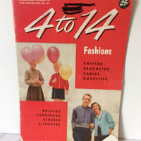 Vintage Crochet Pattern Book 1950s American Thread 127 Fashions Knit Adults Kids