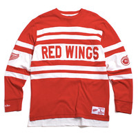 Detroit Red Wings Open Net Longsleeve Red