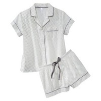 Gilligan & O'Malley® Women's Short Sleeve Woven PJ Set - Assorted Pattern/Colors