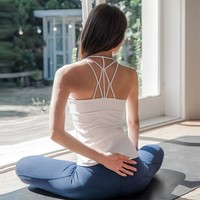 Professional Sexy Yoga Shirt Sleeveless White Quick Dry Fitness Gym Activewear Sportswear Sports Tops Breathable Yoga Clothing
