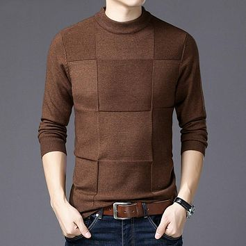 Mens Sweaters Winter Christmas Sweater Men Pullover Men Cashmere Turtleneck Pull Homme Clothes Jersey Hombre