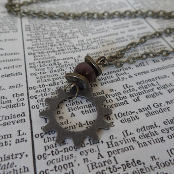 Steampunk Necklace, Gears and Cogs, Industrial S11
