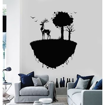 Vinyl Wall Decal Deer Animal Forest Beauty Nature Land Stickers Mural (g3259)