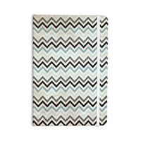 "Heidi Jennings ""Blue Chevron"" Gray Aqua Everything Notebook"