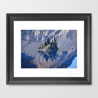 Ghost Ship, Creepy Crater Lake Framed Art Print by RDelean