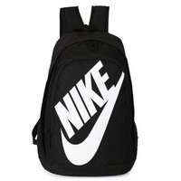 NIKE Fashion Sport Daypack Bookbag Shoulder Bag Travel Bag School Backpack white golden hook