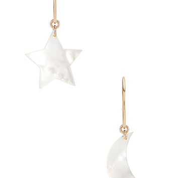 Paradigm Night Sky Hoops in Gold & Mother Of Pearl | REVOLVE