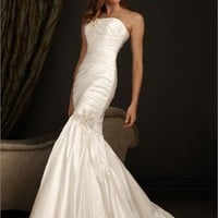 Highlight The Curve Glamour Strapless Mermaid Taffeta Wedding Dress WD1685