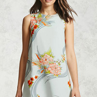 Floral Graphic Shift Dress