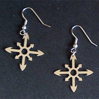 Stainless Steel Chaos Cross Earrings