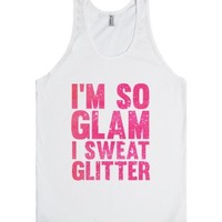 So Glam-Unisex White Tank