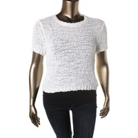 Sactuary Womens Knit Sheer Pullover Sweater