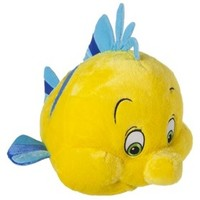 Disney Little Mermaid Plush Cuddle Pillow - Flounder