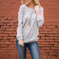 Spectacular Speckles Sweater, Gray