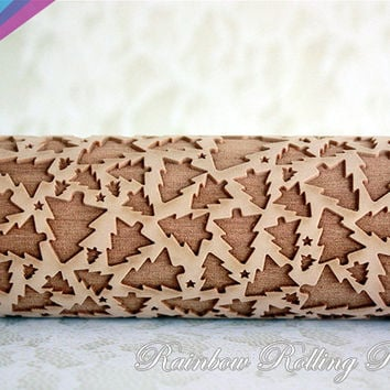Christmas tree pattern 31, Embossing rolling pin,Christmas tree cookies,Christmas new year Holiday,baker gift,christmas decoration