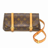 Authentic Louis Vuitton Monogram Canvas Shoulder Waist Bag Pochette Marelle LV