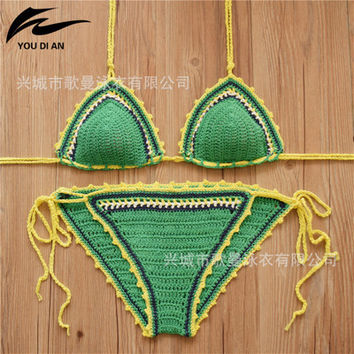 Fashion Knit Sexy Erotic Bikini Swim Suit Beach Bathing Suits Swimwear _ 13045
