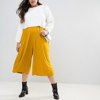 ASOS CURVE Pleated Wide Leg Culotte Pants at asos.com