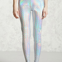 Metallic Mermaid Scale Leggings