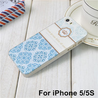 Blue Pastel Floral Phone Case for iPhone 5 5s