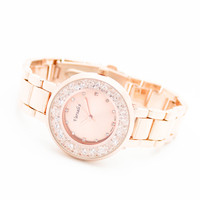 Crystal metal watch (3 colors)